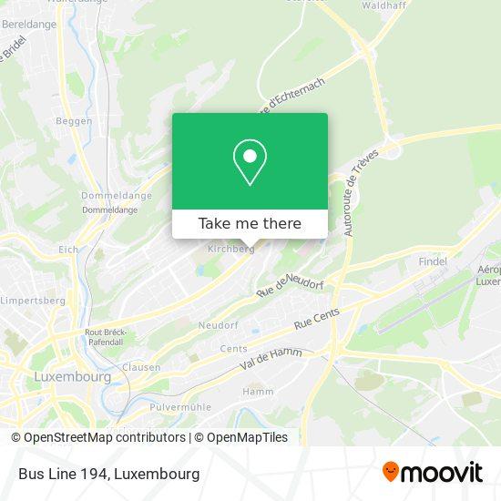 Bus Line 194 map