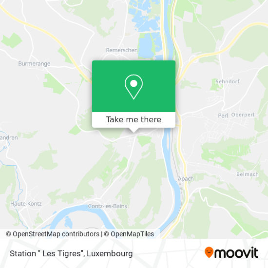 Station '' Les Tigres'' map