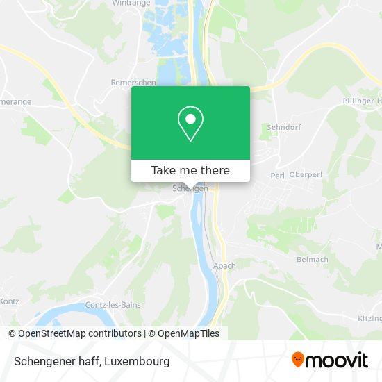 Schengener haff map