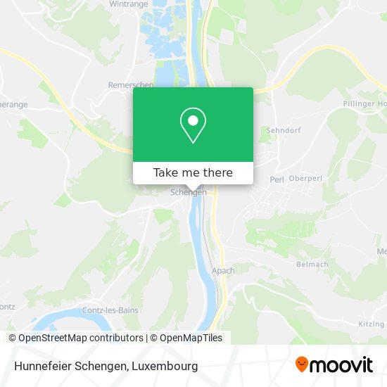 Hunnefeier Schengen map