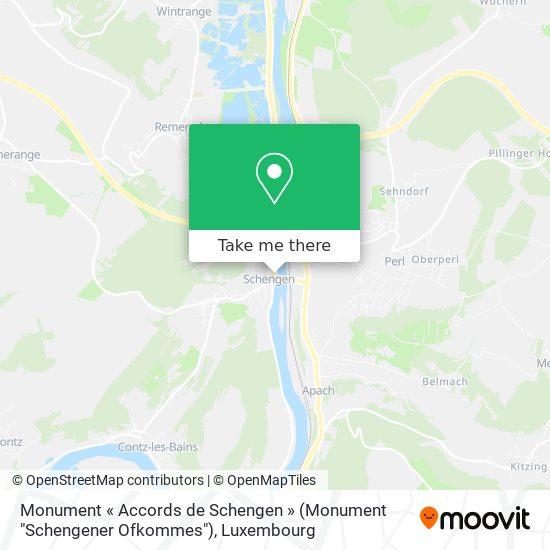 """Monument « Accords de Schengen » (Monument """"Schengener Ofkommes"""") map"""