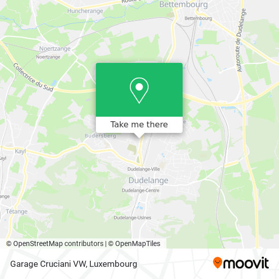Garage Cruciani VW map