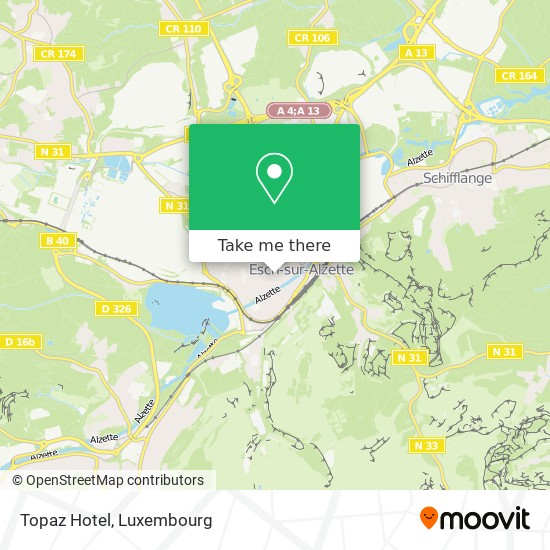 Topaz Hotel map