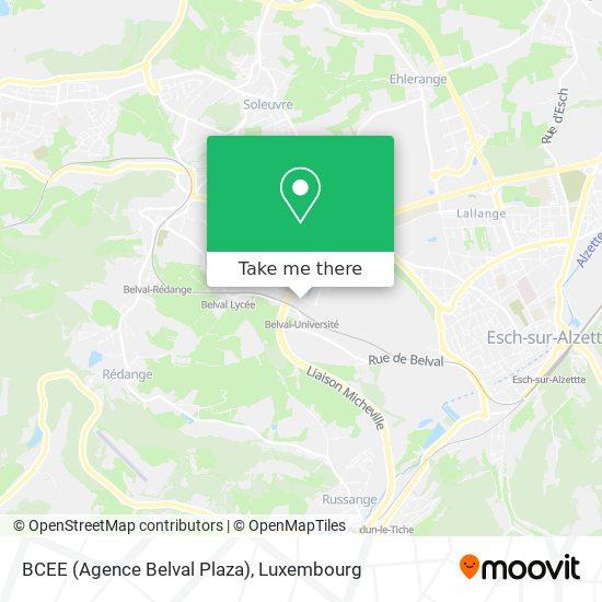 BCEE (Agence Belval Plaza) map