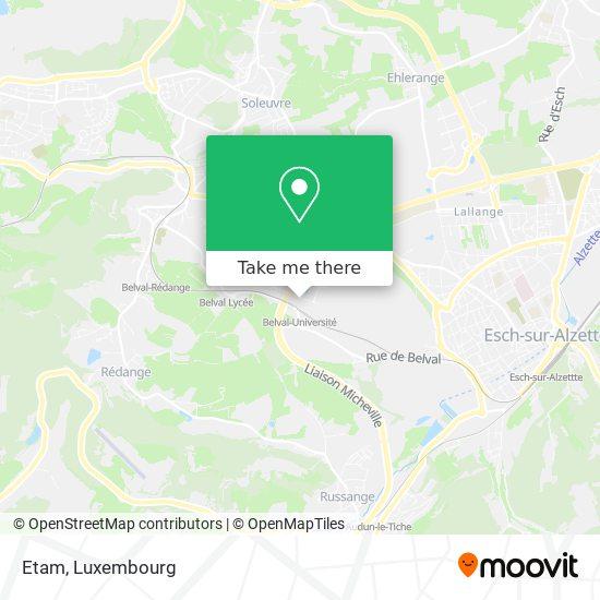 Etam map