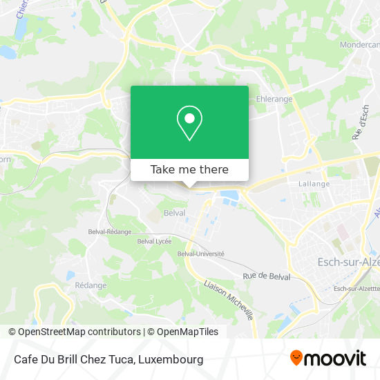 Cafe Du Brill Chez Tuca map