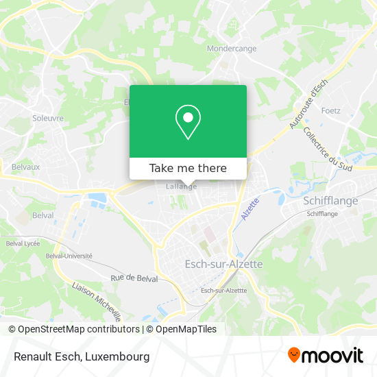 Renault Esch map