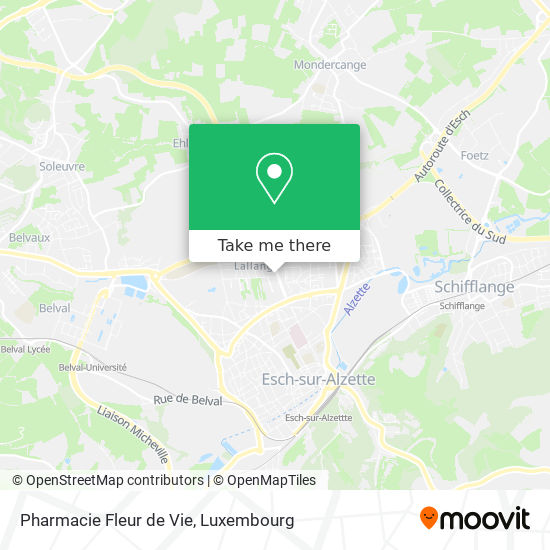 Pharmacie Fleur de Vie Karte