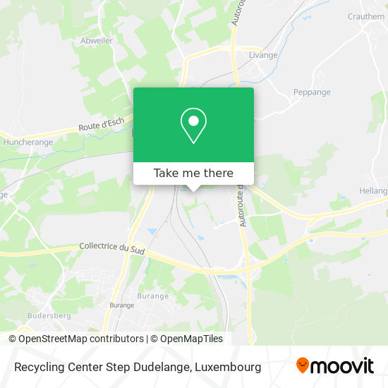 Recycling Center Step Dudelange map
