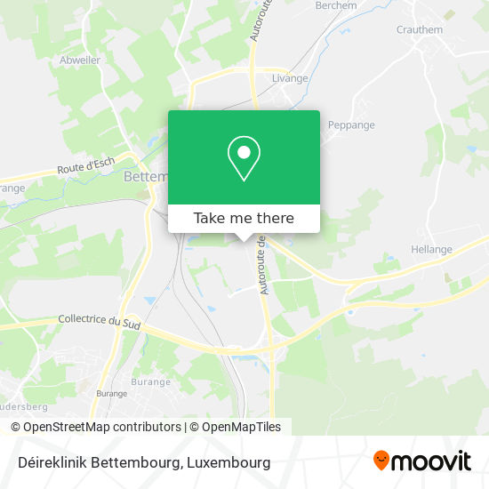 Déireklinik Bettembourg map