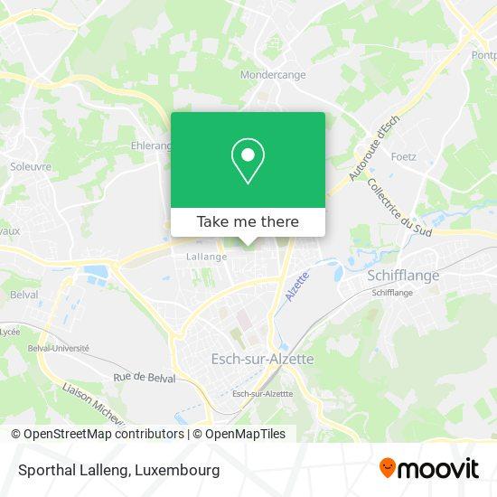 Sporthal Lalleng Karte