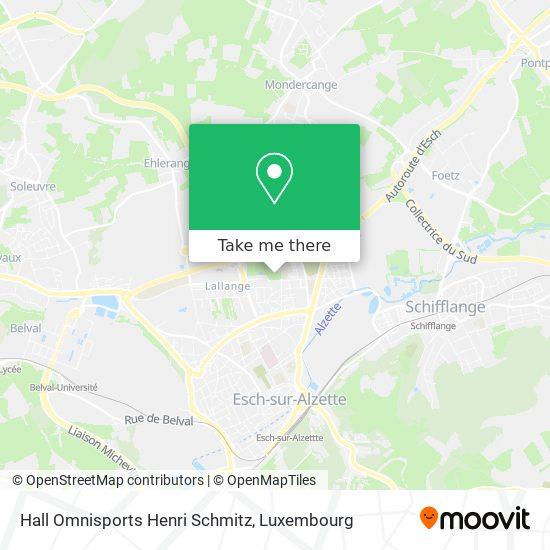 Hall Omnisports Henri Schmitz map