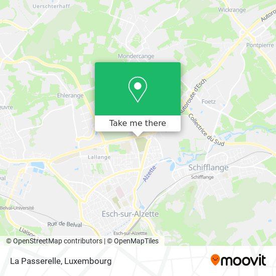 La Passerelle map