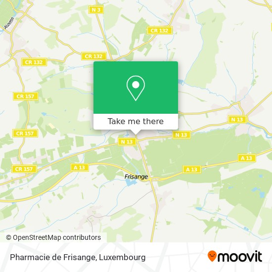 Pharmacie de Frisange map
