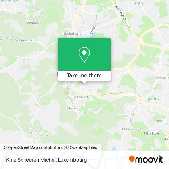 Kiné Scheuren Michel map
