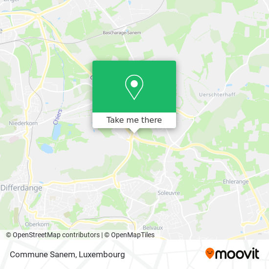 Commune Sanem Karte
