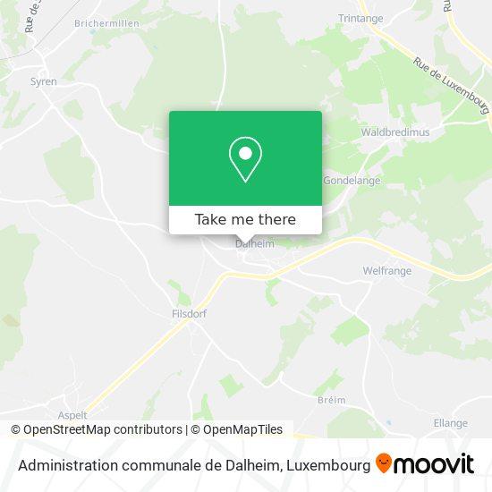Administration communale de Dalheim map