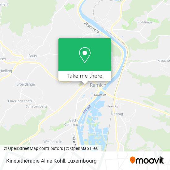 Kinésithérapie Aline Kohll map