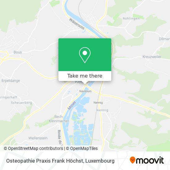 Osteopathie Praxis Frank Höchst map