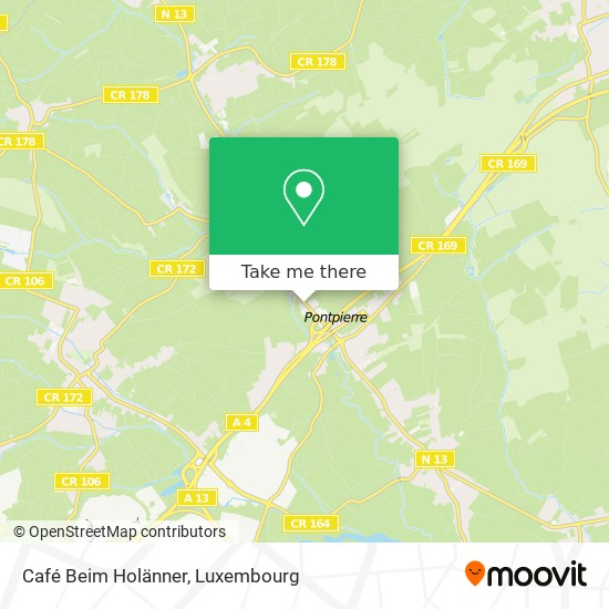 Café Beim Holänner Karte