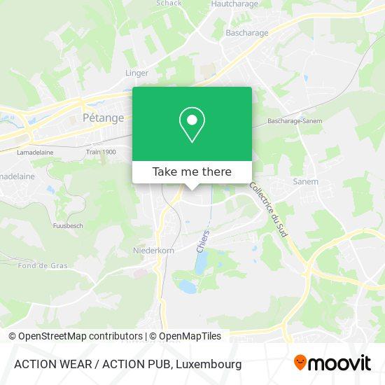 ACTION WEAR / ACTION PUB map