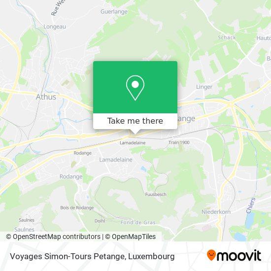 Voyages Simon-Tours Petange map