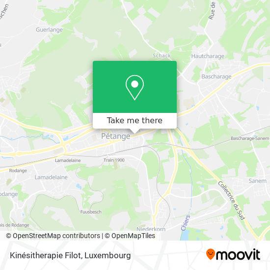 Kinésitherapie Filot map