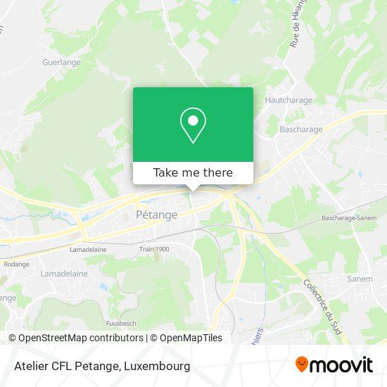 Atelier CFL Petange map