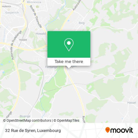 32 Rue de Syren map