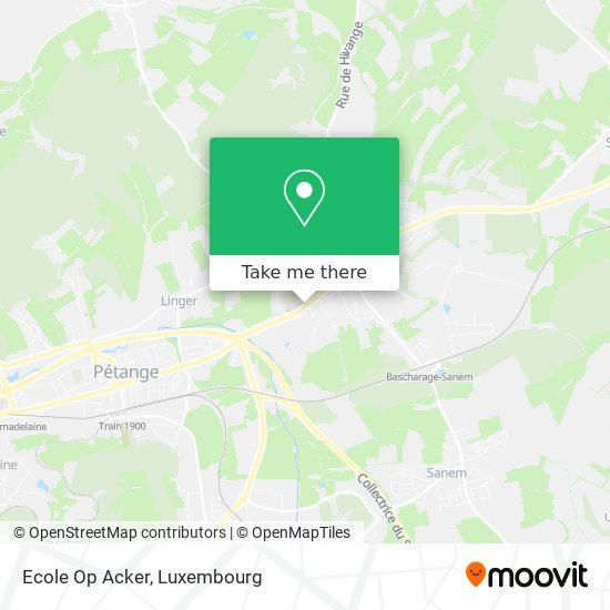Ecole Op Acker map