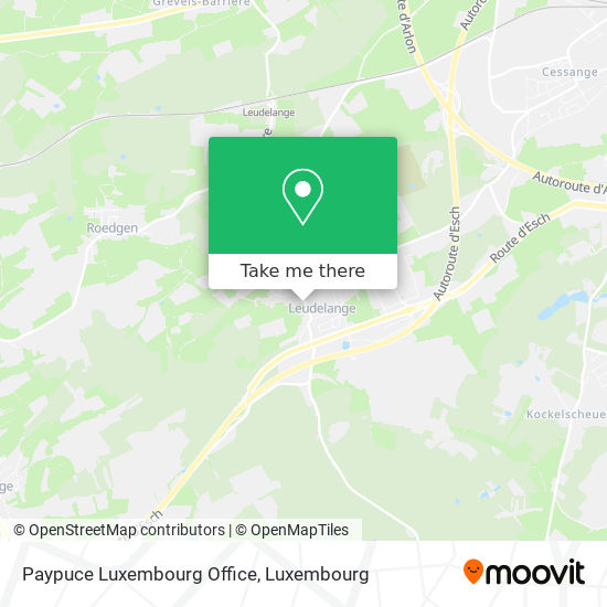 Paypuce Luxembourg Office map
