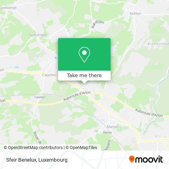 Sfeir Benelux map