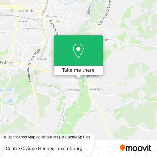 Centre Civique Hesper map