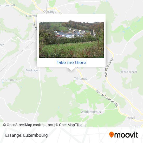 Ersange map