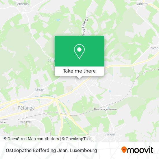 Ostéopathe Bofferding Jean map