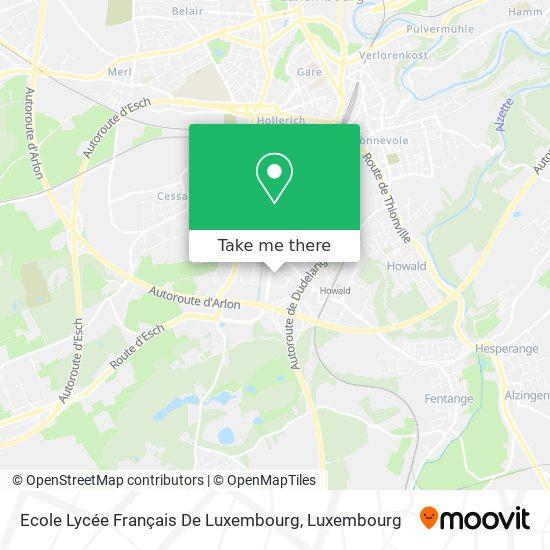 Ecole Lycée Français De Luxembourg map