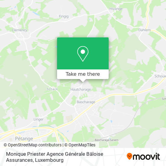 Monique Priester Agence Générale Bâloise Assurances map