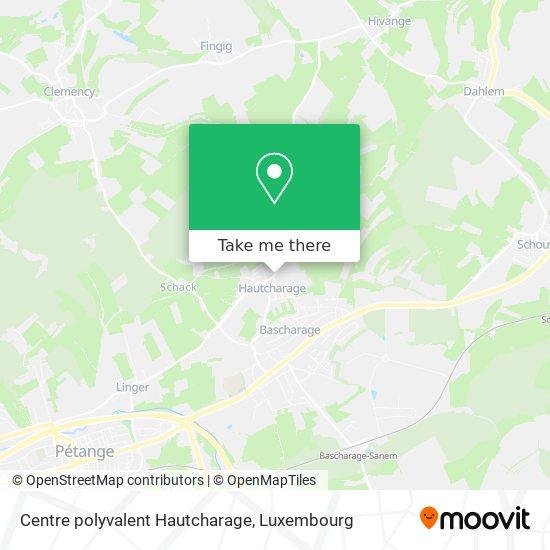Centre polyvalent Hautcharage map