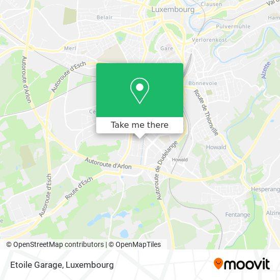 Etoile Garage map