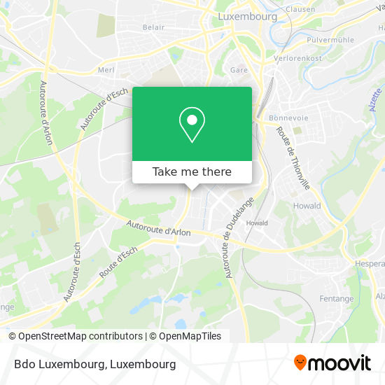 Bdo Luxembourg map
