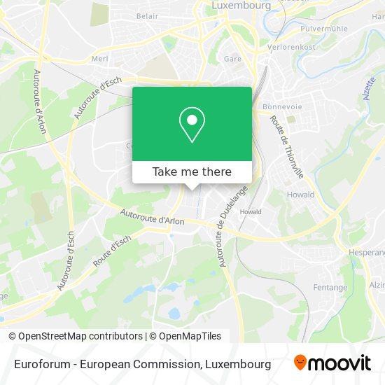 Euroforum - European Commission map