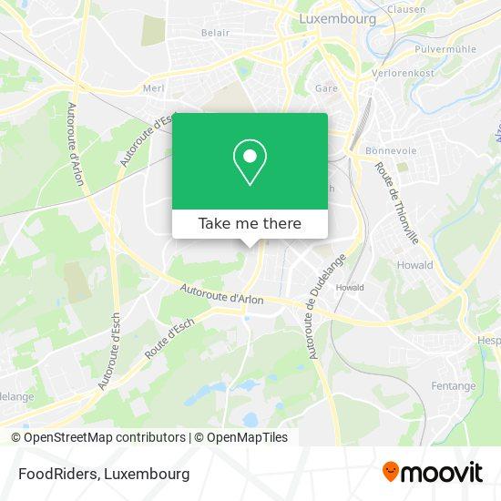 FoodRiders map