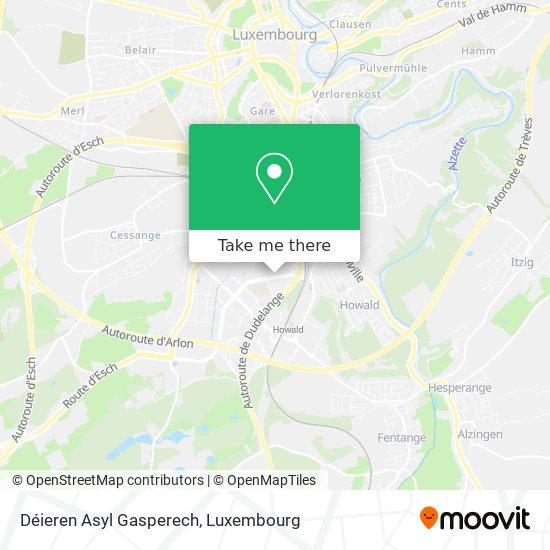 Déieren Asyl Gasperech map