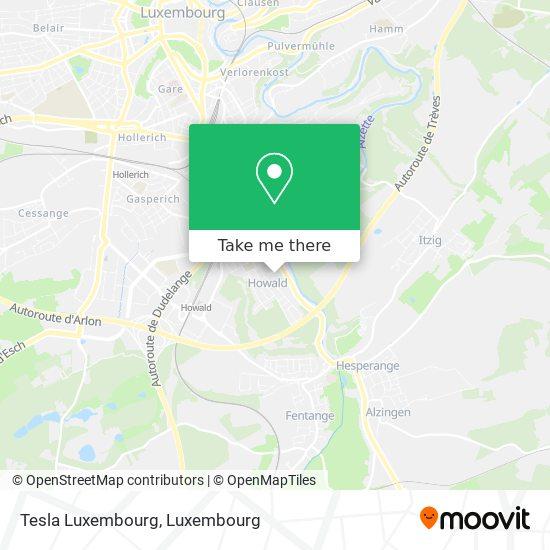 Tesla Luxembourg map