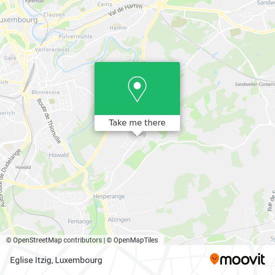 Eglise Itzig map