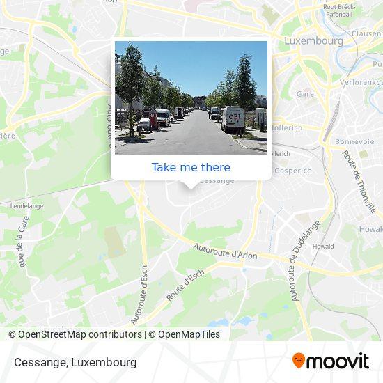 Cessange map