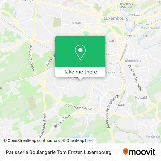 Patisserie Boulangerie Tom Ernzer map
