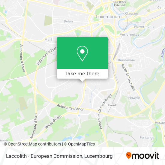 Laccolith - European Commission map