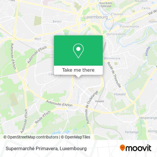 Supermarché Primavera map
