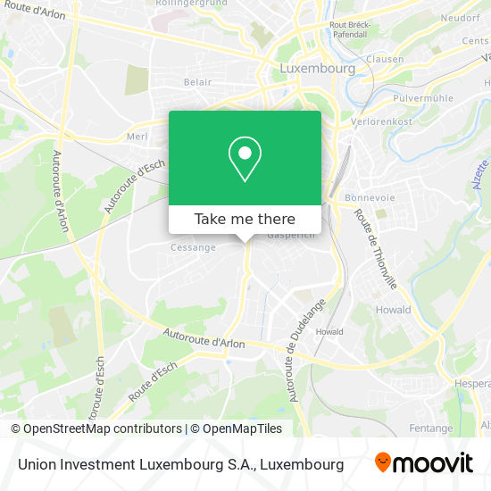 Union Investment Luxembourg S.A. map